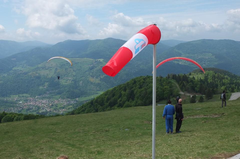 Tour de Parapentes (Tour der Paraglider) Le Treh Elsaß Frankreich