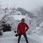 und SchneeMärchen in hinterstein neben der Loipe beim Haus des Holzschnitzers Wurzelhuber...