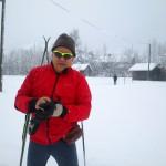 Klaus mit neuer Brille von Rudy zum ersten Langlauf diesen Winter...in hindelang, Loupe nicht ..noch nicht mit Maschine gespurt...trotzdem...